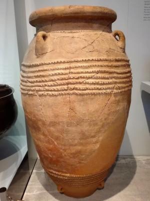 Lerkrukke set på det arkæologiske museum i Heraklion